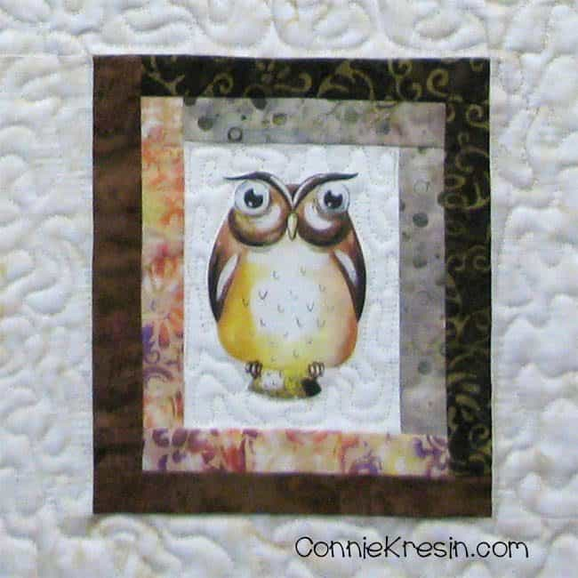 Cute printable owl on quilt