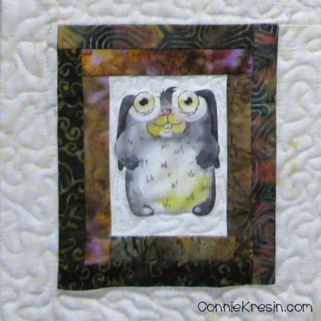 Cute animal printable rabbit on quilt