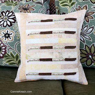 Island Batik Label Pillow