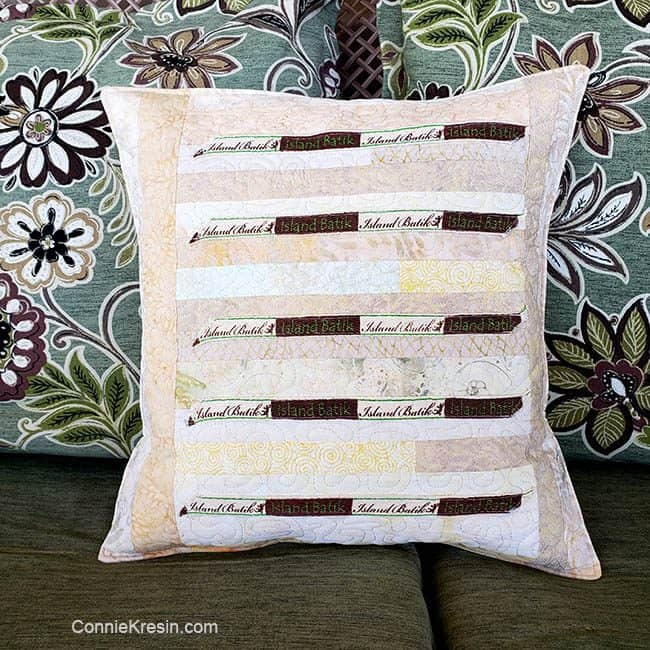 Island Batik Ambassador Project Label Pillow