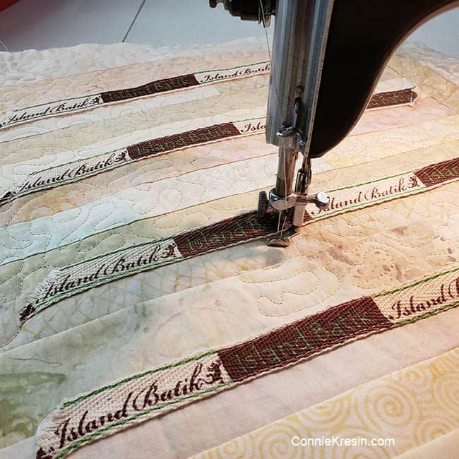 Quilting on a vintage 15-91 Singer sewing machine