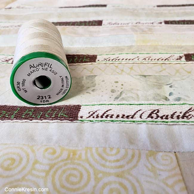 Island Batik labels and Aurifil thread