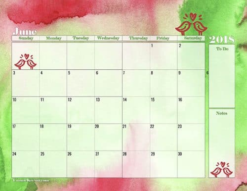Free Downloadable Calendar