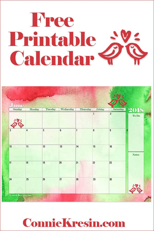 Free Printable Calendars for June