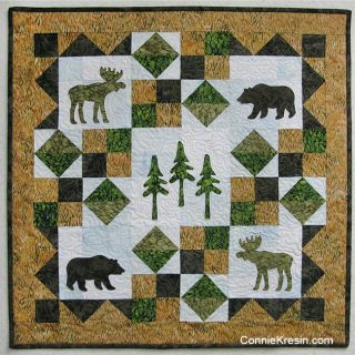 AccuQuilt GO! Wild In Northwoods Wall Hanging