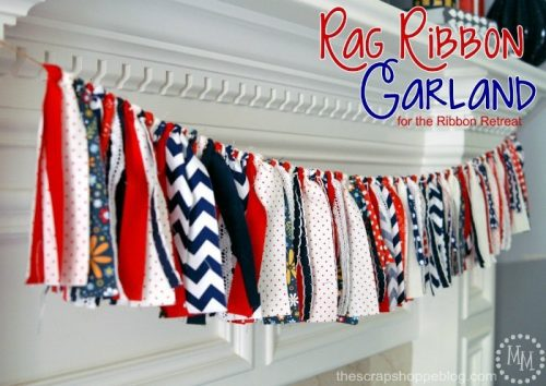 4th of July Rag Ribbon Garland