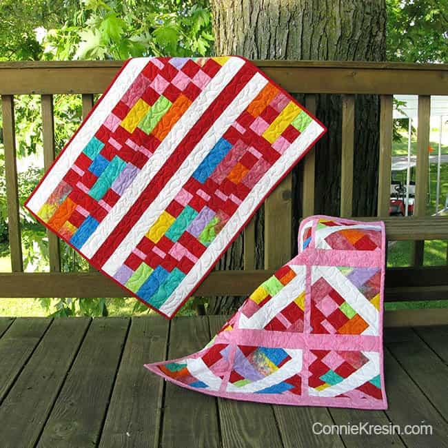 Batik Baby Quilts made with Island Batik Fabrics