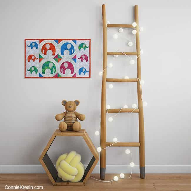 Elephant Walk Wall hanging with Baby toys