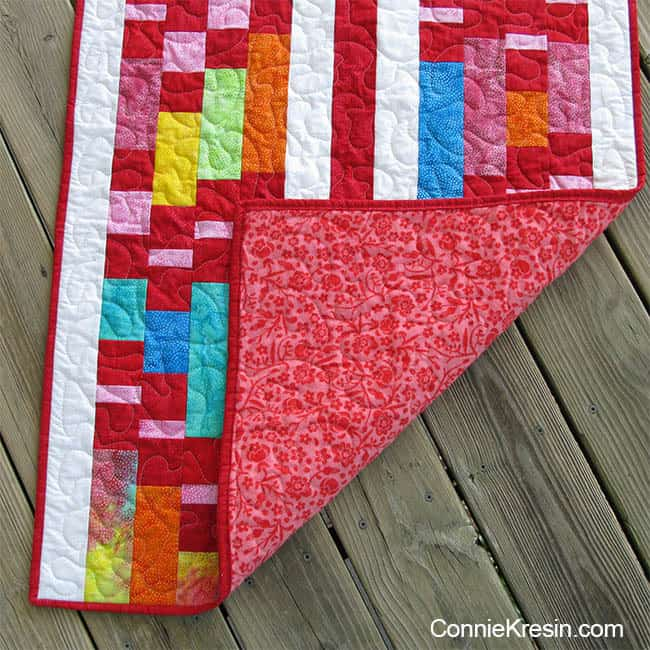 Flannel on back baby quilt