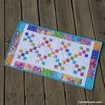 Scrappy Irish Chain Tablerunner quilt tutorial