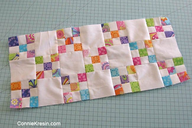 Irish Chain 9 patch blocks sewing together