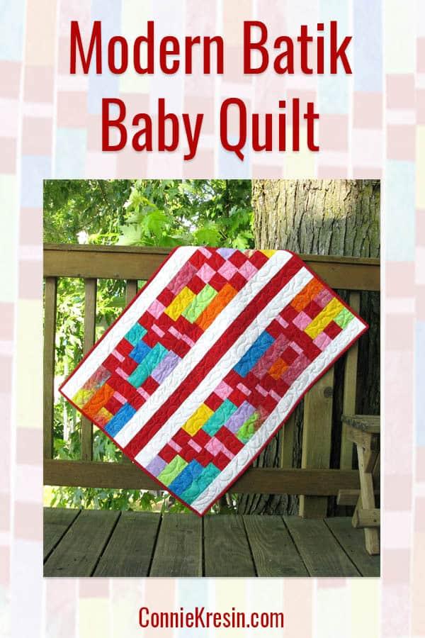 Modern Batik Baby Quilt
