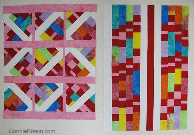 Modern Batik Challenge Baby Quilts different looks