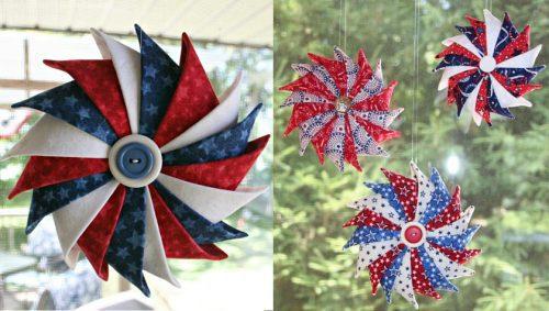 Patriotic Prairie Point Star