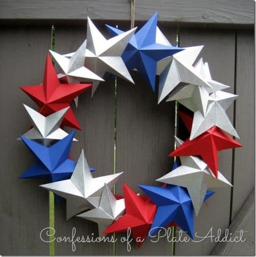 Pottery Barn Inspired 3-D Paper Star Wreath