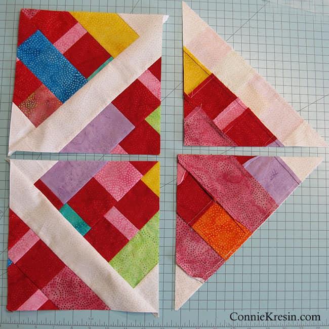 Scrappy Quilt Squares Baby Quilt