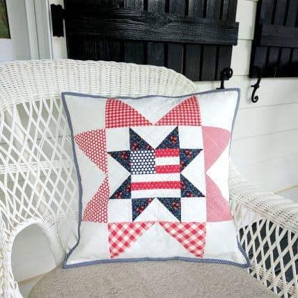 Patriotic Star Pillow tutorial