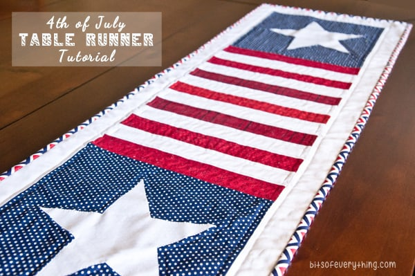 4th of July Table Runner Tutorial