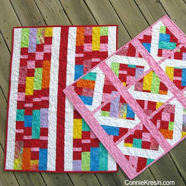 batik baby quilts deck