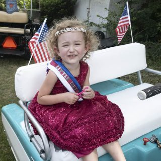 Fairport Golf Cart Parade for the 4th of July