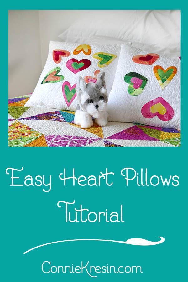Easy Heart Pillows tutorial easy to make