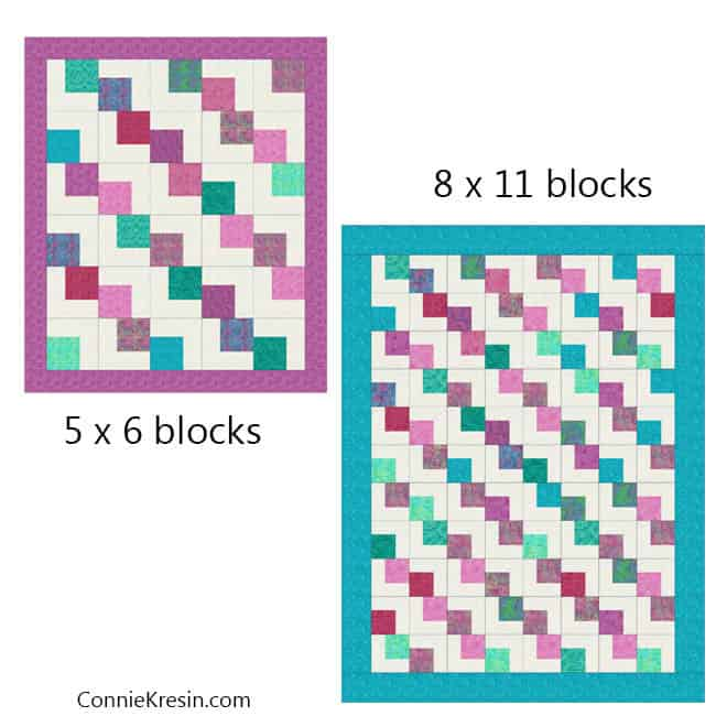 Falling Charms quick easy tutorial with block rows