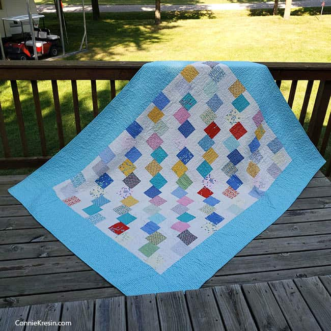 Falling Charms quick easy tutorial all quilted