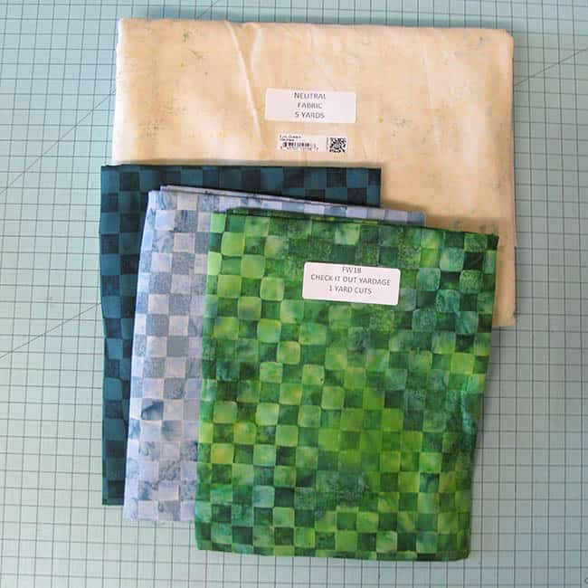 Island batik Ambassador Check It Out quilt fabric