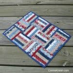 Mini split rail quilt block tablerunner tutorial