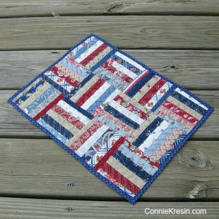 Independence day mini tablerunner