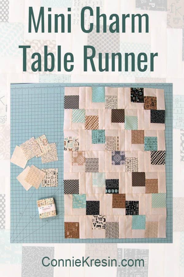 Mini Falling Charm Pack table runner