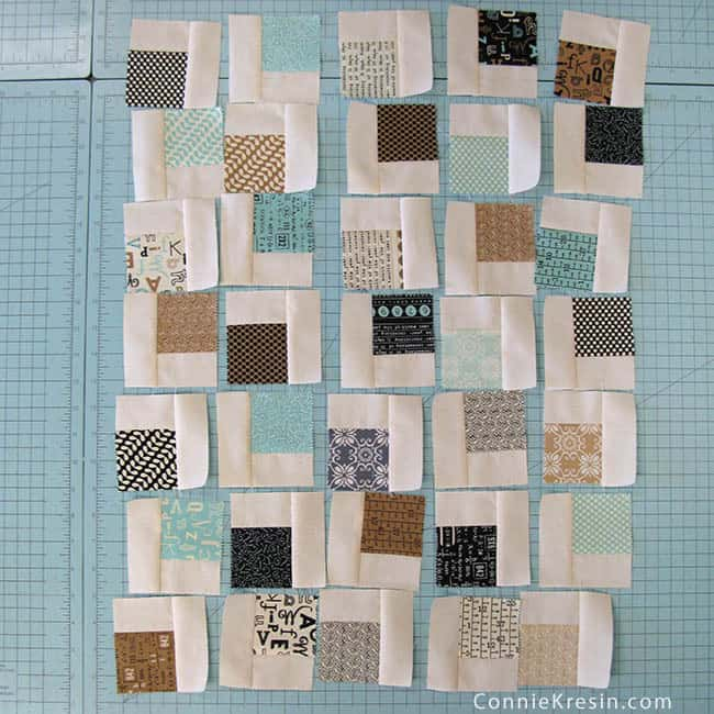 Mini Charm Pack Quilt made from Mini charms quilt blocks