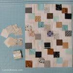 Mini Falling charms mini 2 1/2 inch square quilt blocks for tablerunner leftovers