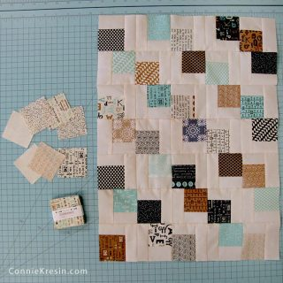 Mini Falling Charm Pack Table Runner
