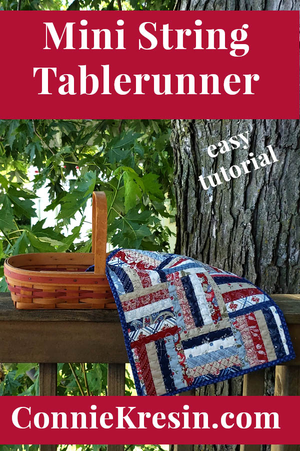 Mini table runner for the 4th of July easy tutorial