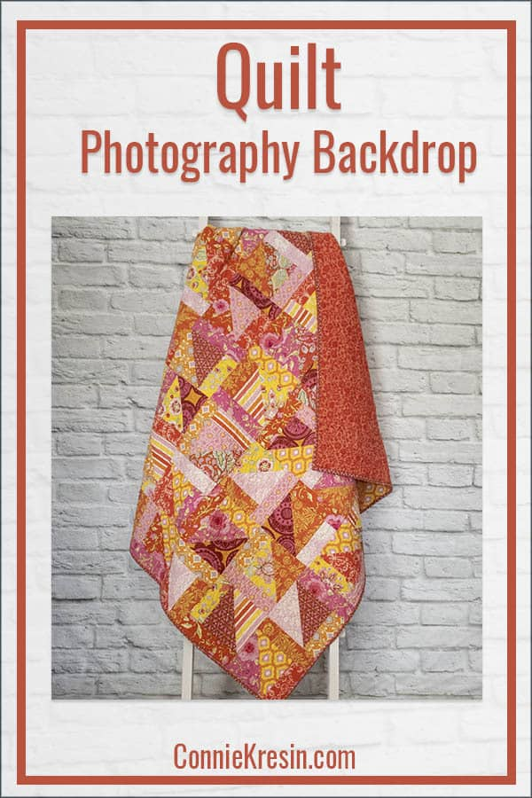 Quilt Photography Backdrop DIY for quilts