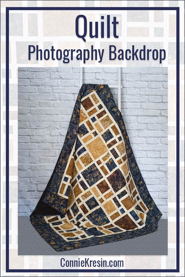 Brick Wall backdrop for quilt photos