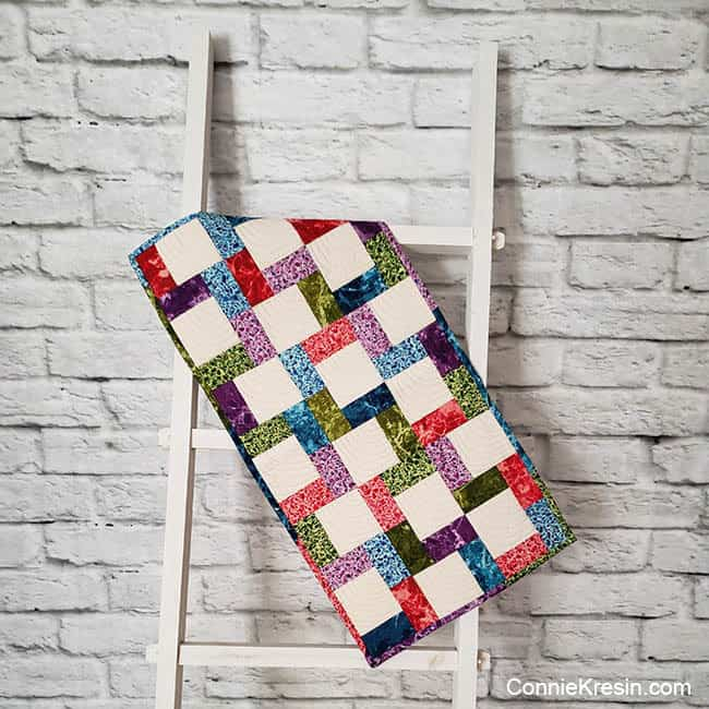 Quilt Photography Backdrop and quilt ladder for quilts