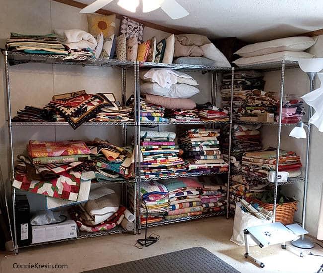 Quilt Studio storage of quilts
