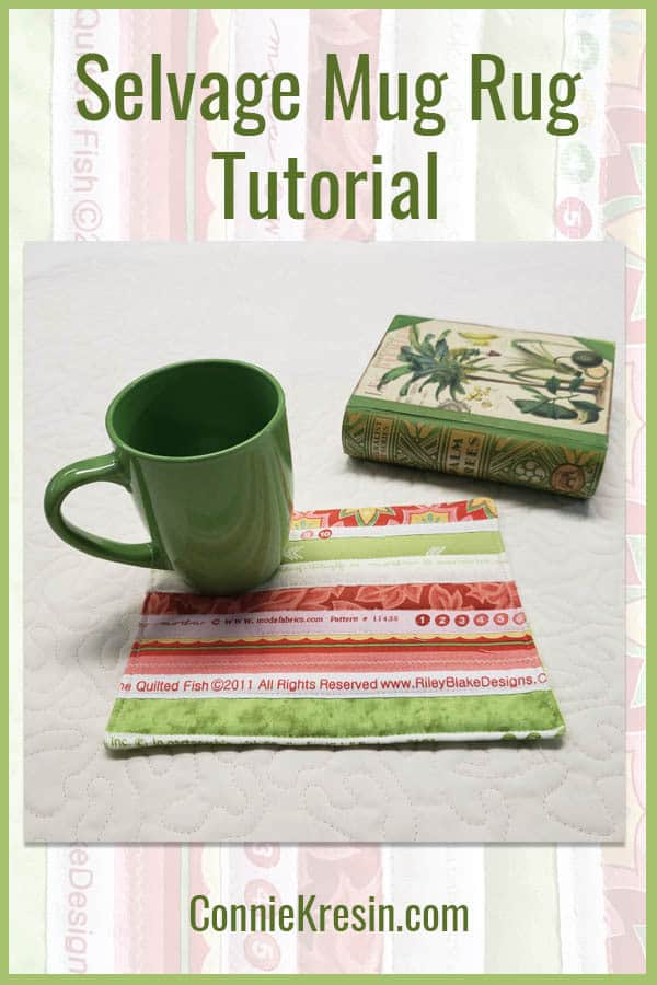Make a fast and easy selvage mug rug with this tutorial so you can have gifts on hand