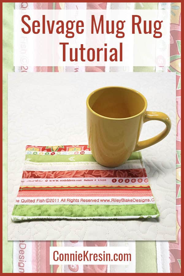 easy selvage mug rug tutorial for a fun gift