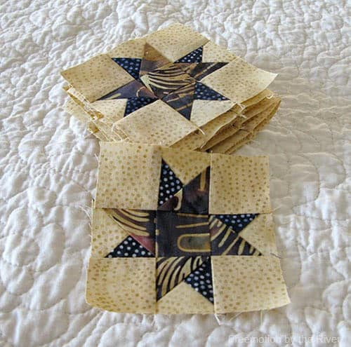 Spinning star 3 inch quilt blocks