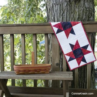 Spinning Star Quilted Tablerunner