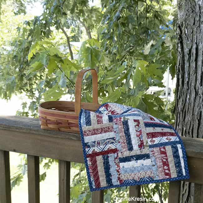 Mini String tablerunner red white and blue quilts