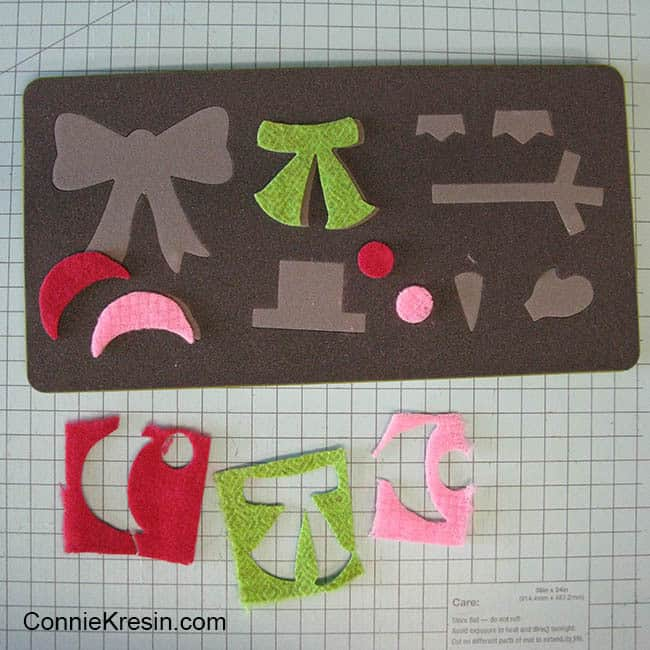 caroling snowmen wool table topper tutorial scarves
