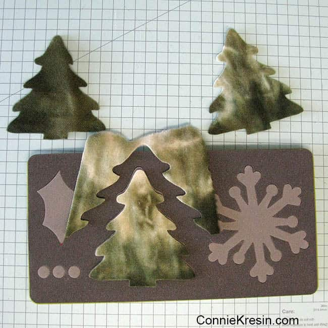 caroling snowmen wool table topper tutorial trees