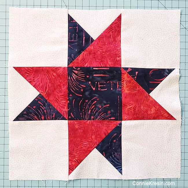 Spinning Star Quilt Block Tutorial