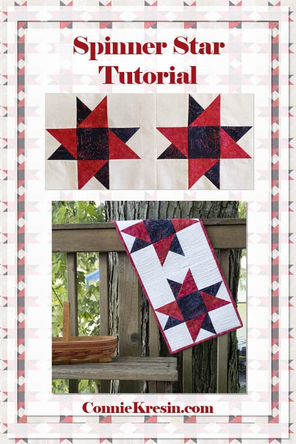 Spinning Star quilt block tutorial and tablerunner