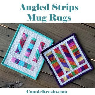 Angles Strips Mug Rugs easy tutorial