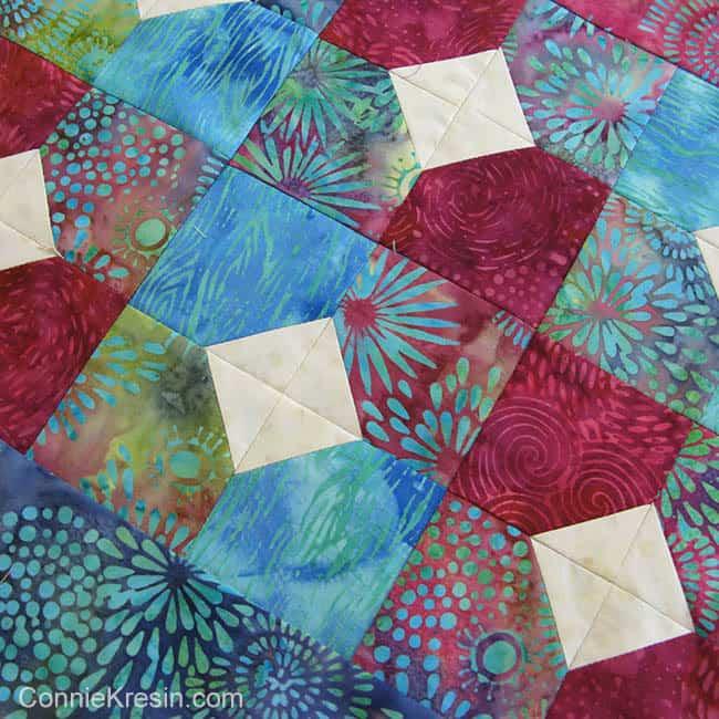 Batik Bowtie quilt project